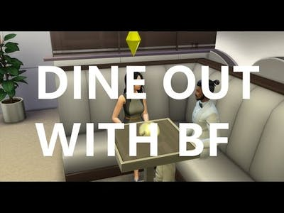 Ep7 DINE OUT WITH BF | The Sims 4 | City Living | Dine Out | Game Play