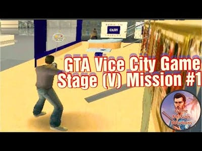 GTA Vice City game Stage V mission #1