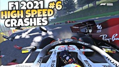 F1 2021 HIGH SPEED CRASHES #6