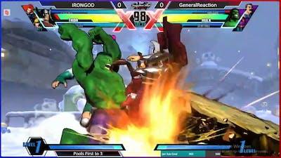 TNS UMvC3 #33 Irongod (Thor/Morrigan/Phoenix) vs General Reaction (Hulk/Sentinel/Haggar)
