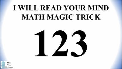 How Predictable Are You? Three Digit Magic Trick
