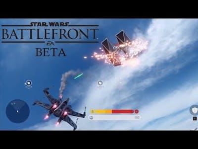 X-WING vs TIE FIGHTER - Battlefront Beta Air Vehicle Combat