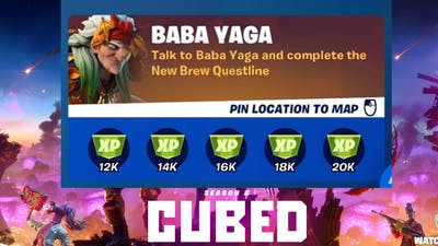 BABA YAGA Punchcard - All Quests - Stages 1 through 5 - Fortnite