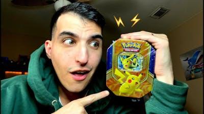 Opening A Pokémon Pikachu EX Tin!!