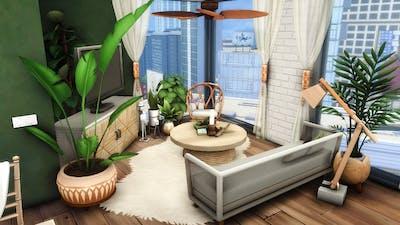The Sims 4 City Living Apartment Stop Motion   Penny Pizzazz Boho Reno No CC