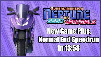 Superdimension Neptune Vs Sega Hard Girls - NG+, Normal End Speedrun in 13:58 [Old WR]