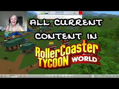 All Current Content in Rollercoaster Tycoon World || EARLY ACCESS