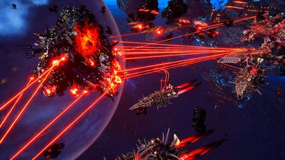 Chaos vs Orks! - Massive Battle, Skirmish Gameplay, Battlefleet Gothic Armada 2