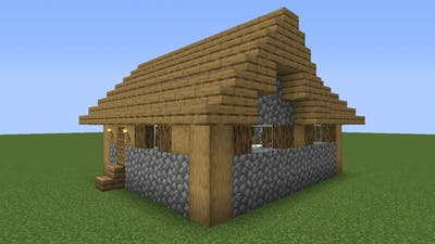 How To Build a Minecraft Village Medium House