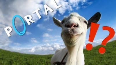 PORTAL + GOATS?! Goat Simulator Waste of Space DLC