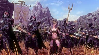 Dark Elves Vs High Elves   10,000 Unit cinematic Siege of Naggarond   Total War Warhammer 2
