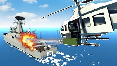 HELICOPTER VS SHIP BATTLE! - Stormworks NEW Weapons DLC Update!