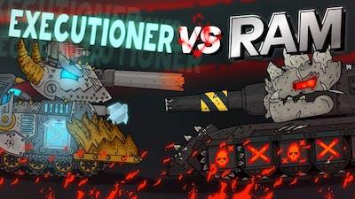 Gladiator battles : Executioner versus Ram - Cartoons about tanks