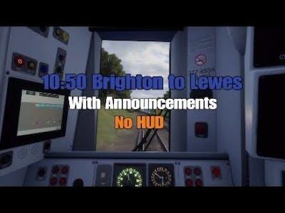 10:50 Brighton - Lewes (Announcements)|East Coastway|TSW