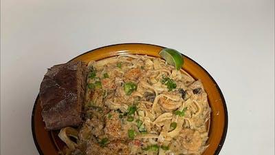 Blind Chef's Shrimp and Crawfish Pasta