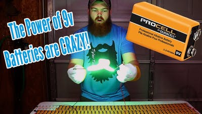 Shocking Things With 300 9 Volt Batteries!