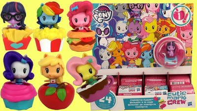 FULL SET My Little Pony Cafeteria Cuties Cutie Mark Crew with MLP Sea Pony