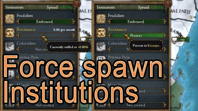 EU4 - how to force spawn institutions (Works for Dharma)