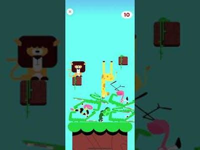 Safari stacking game (Lingokids)