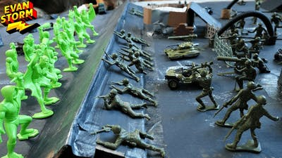 Plastic Army Men Defend Moon Base Alien Invasion Featuring Tim Mee Toys