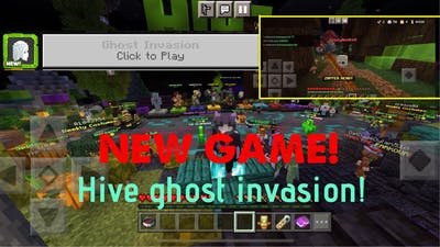 NEW MINECRAFT HIVE GAME! GHOST INVASION!