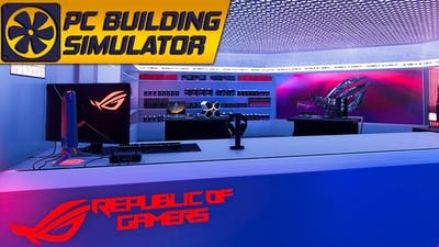 The ROG themed build in PC Building Simulator