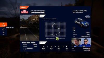 WRC 10 FIA World Rally Championship Anniversary Event Rallye Sanremo 1997 Colin Mcrae 4:54:598