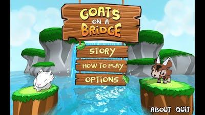 Goats on a bridge - this is insane :D