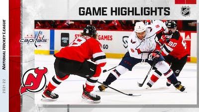 Capitals @ Devils 10/21/21   NHL Highlights