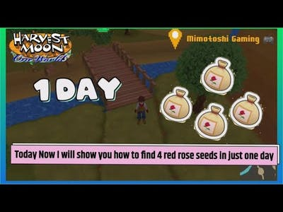 Harvest Moon One World 4 Red rose seed in 1 Day Walkthrough