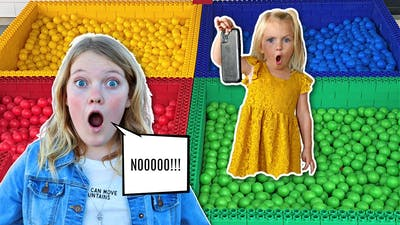 LOST My SISTER'S iPhone in Our COLORED LEGO Ball Pit!