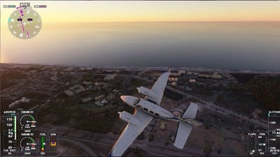 Microsoft Flight Simulator 2020: Myrtle Beach flyover, take off from KYMR