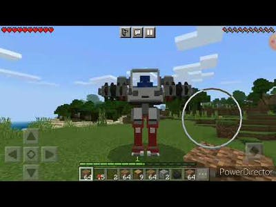 ROBOT AND JETPACK IN MINECRAFT...........