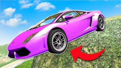 Downhill Jumps in an UPGRADED Lamborghini! - BeamNG Multiplayer Mod