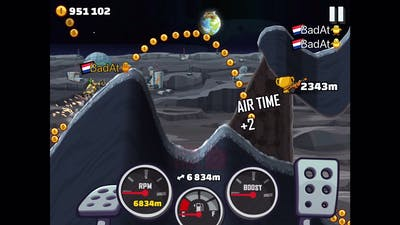 10600+ Meters In MOON with FORMULA|Hill Climb Racing 2