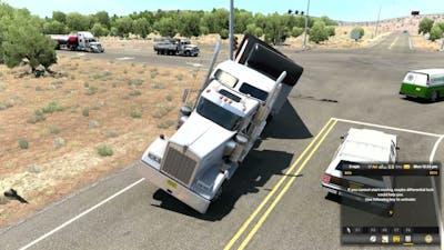 American Truck Simulator New Mexico dlc driving
