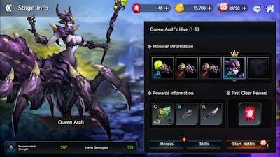 (dragon spear) android sorceress gameplay boss#2 Queen Arah.