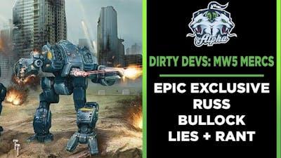 Dirty Devs: Mechwarrior 5 Mercenaries Epic Games Store Exclusive RANT