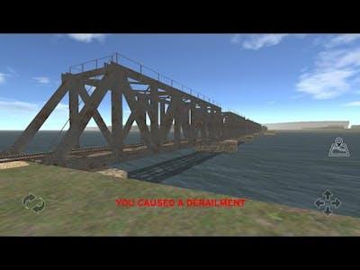 Train and rail yard - Fails/ Derailment by train 4401 on the bridge...