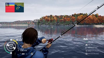 Fishing Sim World Lake Miller 47 LB Musky Reel In