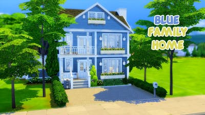 Blue Family Home  // The Sims 4 Speed Build (No CC)