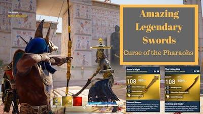 Assassins Creed Origins| Legendary Swords| Curse of the pharaohs| Amuns might, The Living One