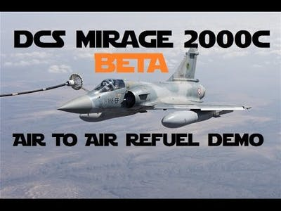 DCS Mirage 2000C [BETA] | Air to Air Refueling over Las Vegas