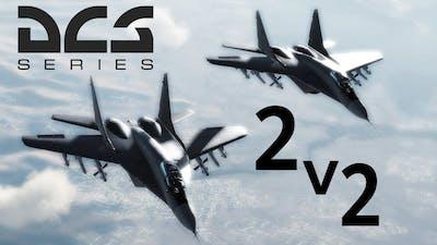 DCS: 2v2  Mig-29 vs F-18 Hornet BVR Engagement