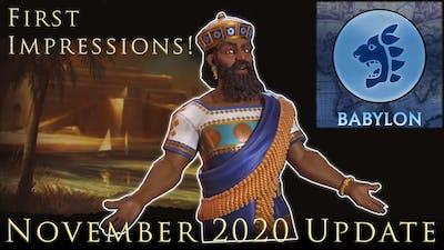 Babylon's Upgrade! Civilization 6 November Update And Babylon First Impression! Civ VI Frontier Pass