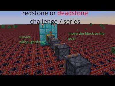 REDSTONE DEADSTONE !!!! CHALLENGE Move the block using REDSTONE withought braking Minecraft
