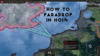 How to paradrop in Hearts Of Iron 4 (tutorial)
