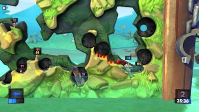Plebs Playin' Worms Revolution - Game 23 (4P Deathmatch)
