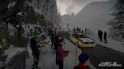 WRC 10 FIA World Rally Championship Rallye Monte-Carlo 1984 Gameplay PC (1080p 60FPS)