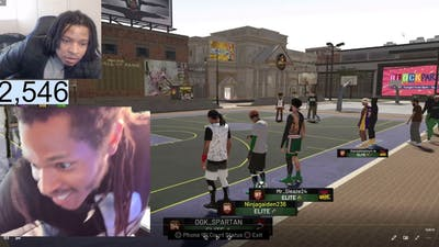 REFLECTING BACK ON WHEN I WAS FAT: NBA 2K19 GAME  AGAINST CHEATING YOUTUBERS (LEVEL 25)